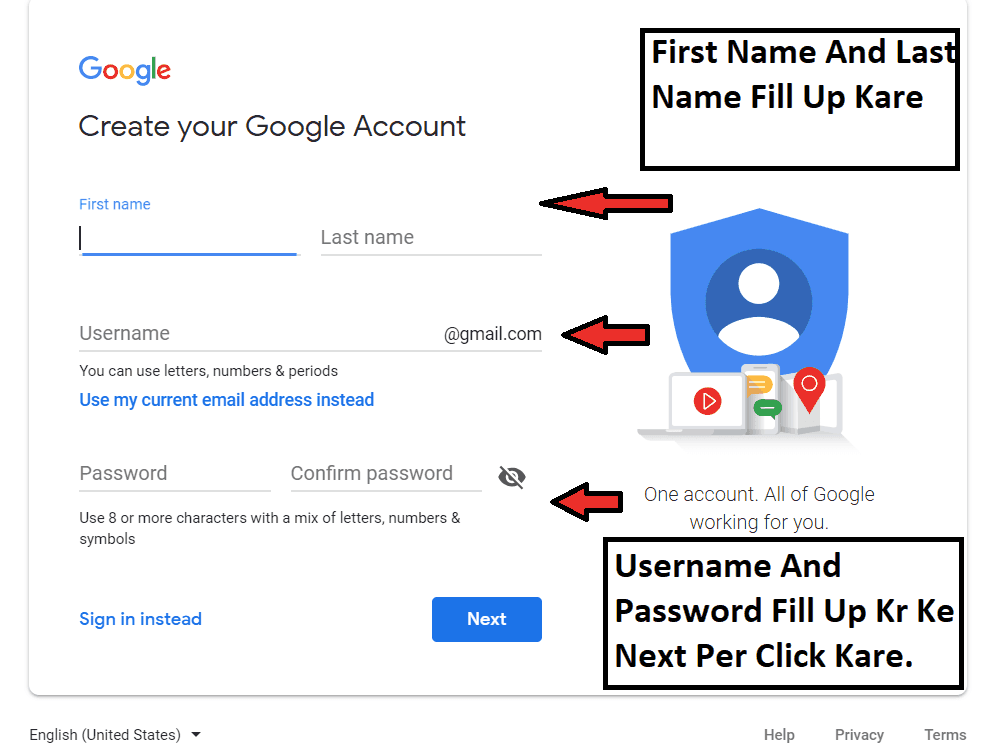 new email account banana hai