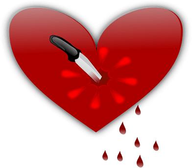 Broken Heart By Knife